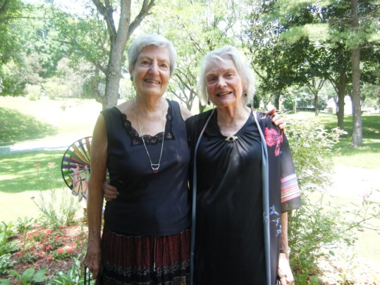 Pat is with one of her very close friends and peace activists here in Ho Co, Virginia Bates.