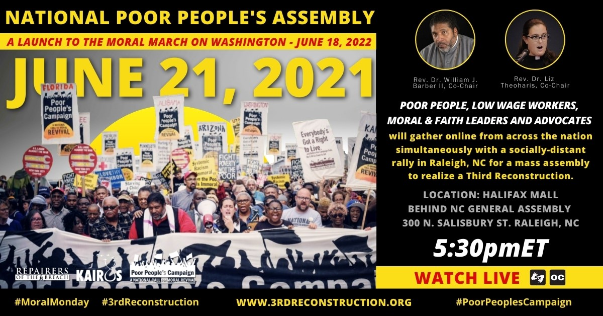 National Poor People's Assembly – June 21, 2021