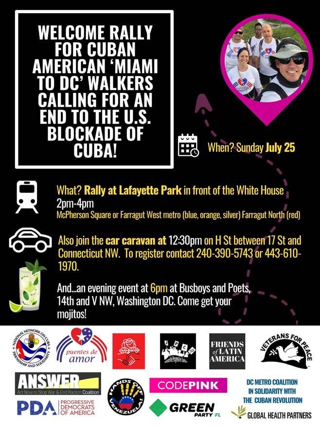 URGENT sign-on request to suspend embargo on Cuba! Deadline tomorrow!